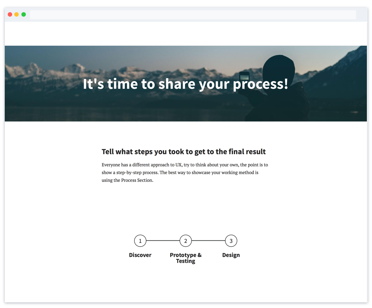 The ultimate UX portfolio template to get you hired - UX portfolio template part 3