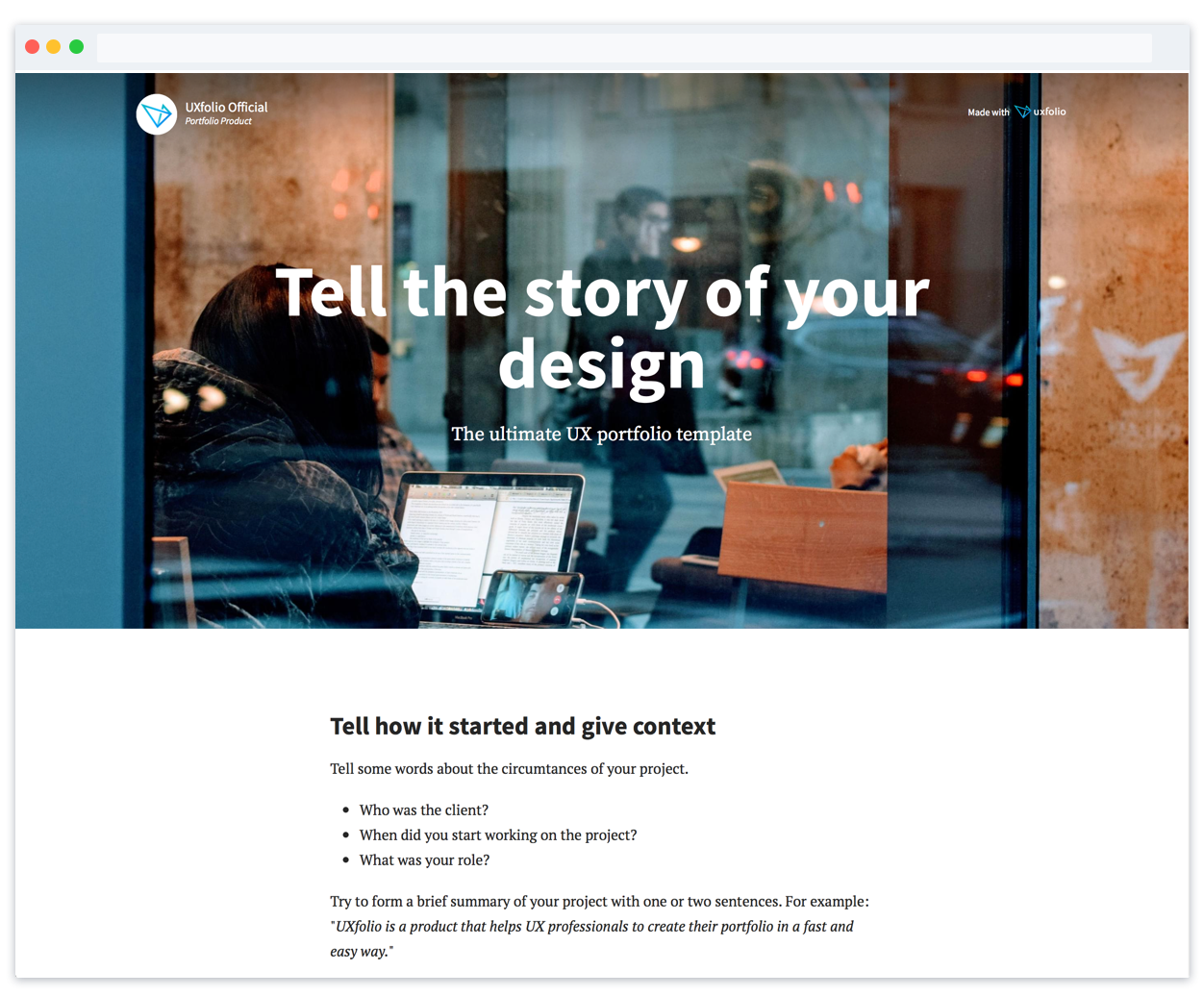 The ultimate UX portfolio template to get you hired - UX portfolio template part 1