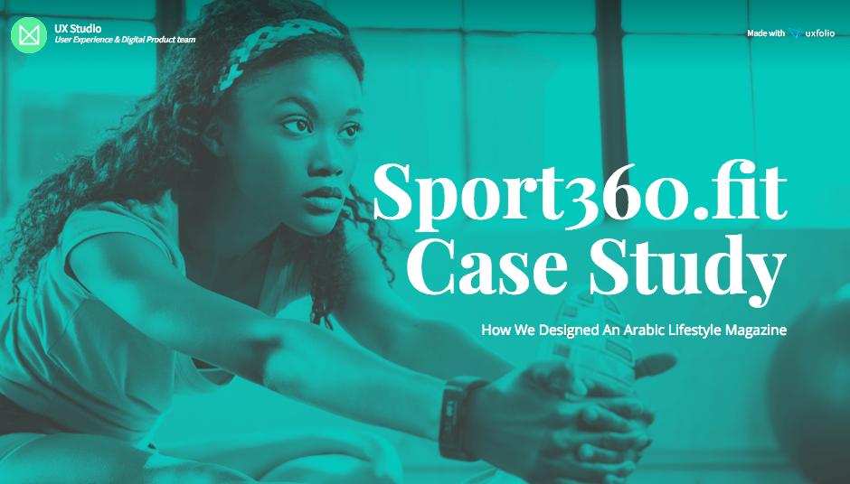 UX case study structure: