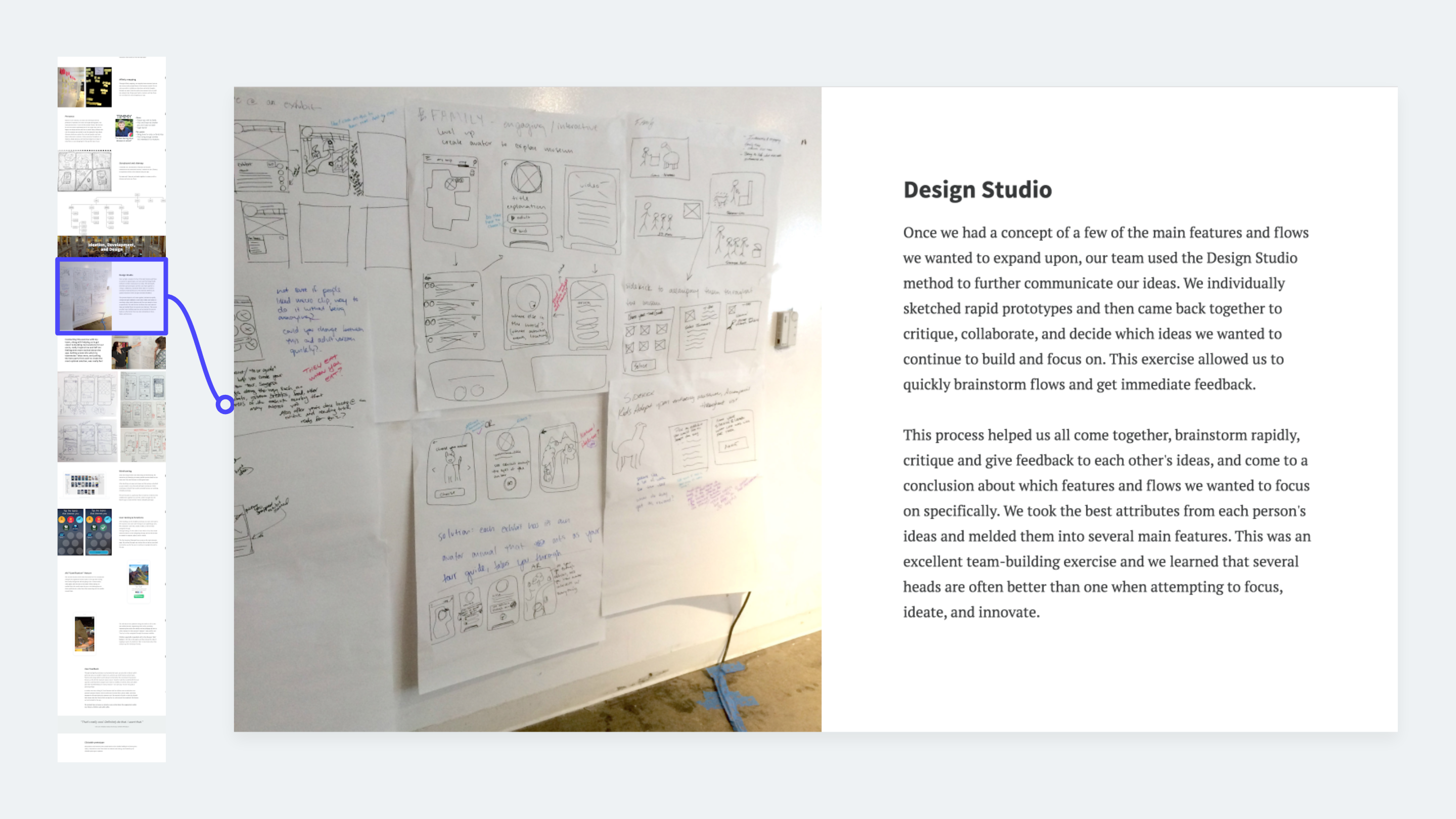 UX methods example: Design studio