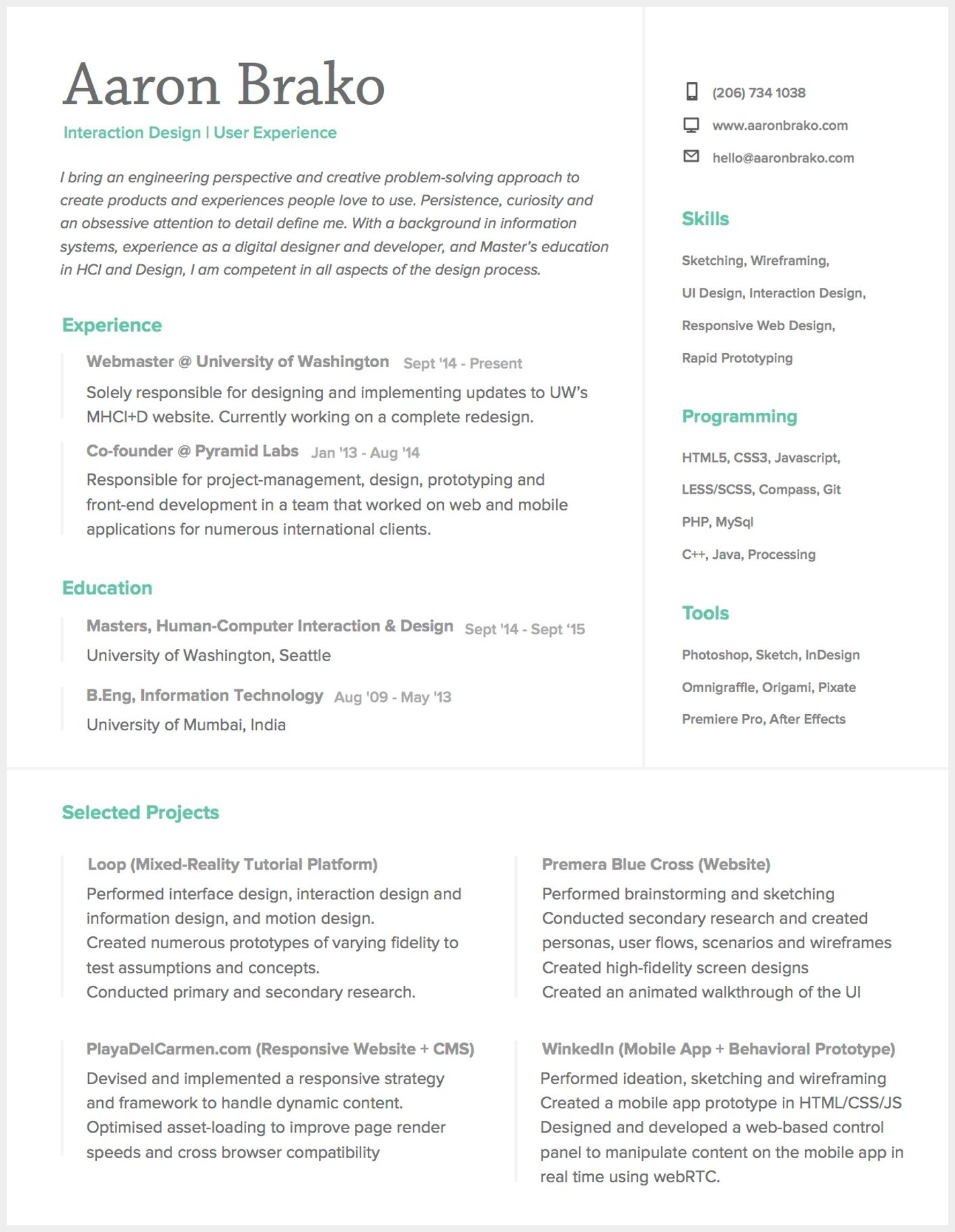 UX Designer Resume: How to Write a Great UX Designer CV? - Resume 2