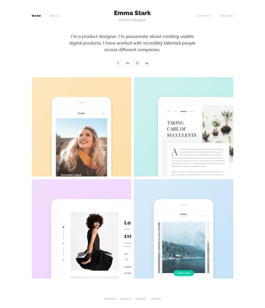 Online Design Portfolio Tutorial with 9 Awesome Examples