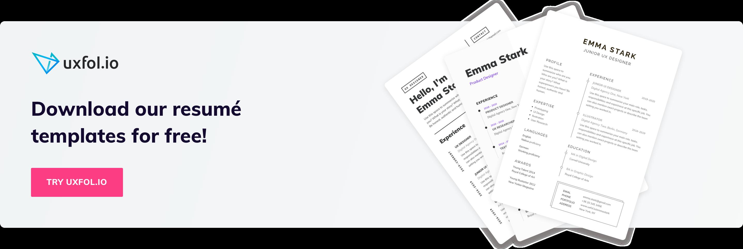 Ux Designer Resumes Hiring Managers Will Love Uxfol Io Blog